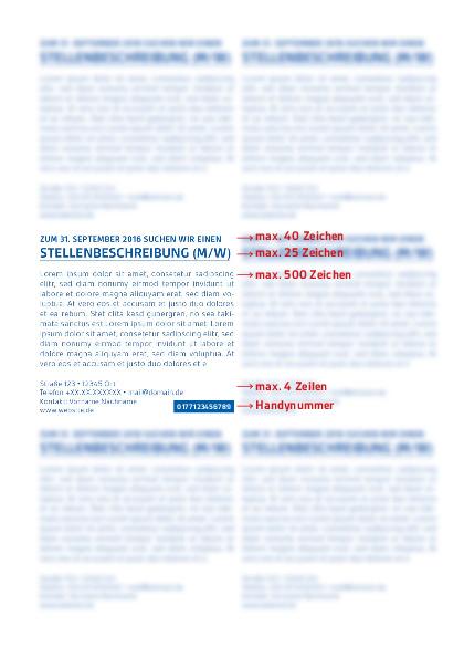 Beispiel des Stellenanzeigen-Aufbaus (PDF | 0,1 MB)